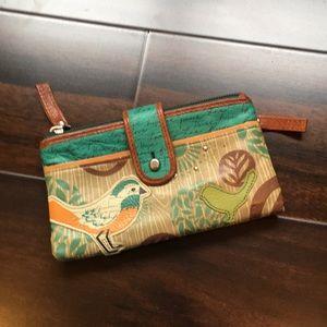fossil bird wallet